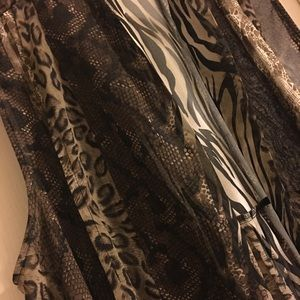Susan Graver Animal Print Vest XL NWOT